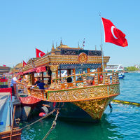Floating cafes in Istanbul