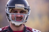 portrait of A young American football player