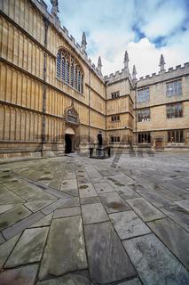 Schools Quadrangle of Bodleian Library. University of Oxford. Oxford. England