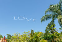 Love in sky done by an airplane