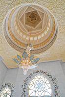 Sheikh Zayed mosque interior in Abu Dhabi city