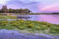 dusk over Dismal River in Nebraska Sandhills