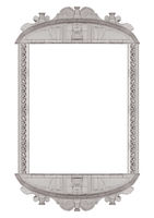 Baroque Style Ornate Isolated Frame