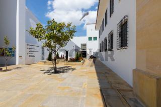 Bogota entrance courtyard art Museum Bank of the Republic