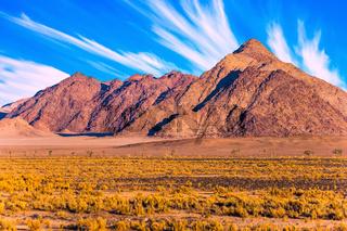 Purple mountains of the Namib desert