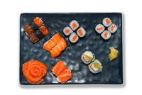 Japanese food set isolated on white background