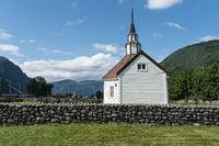 Rosenkirche in Stordal, Norwegen
