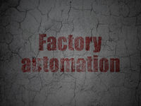 Manufacuring concept: Factory Automation on grunge wall background