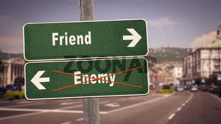 Street Sign to Friend versus Enemy