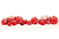Roter Weihnachten Hintergrund mit Keks