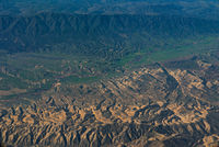 aerial view of California San Andreas