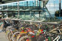 Bicycles parking airport Copenhagen Denmark