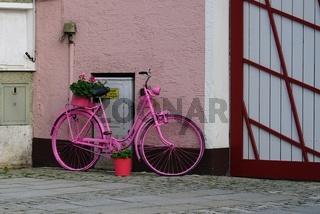 pink bicycle