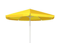 typical yellow umbrella sunshade