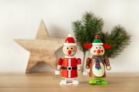 Christmas figures reindeer Santa Claus toys