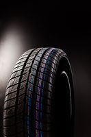 Winter tyre isolated.
