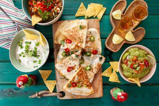 Leckere Quesadilla mit Guacamole