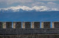 Massive walls of the castle Samuil in Ohrid