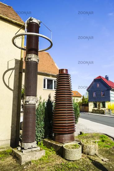 Historische Isolatoren, Hermsdorf, Thueringen, Deutschland