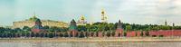 Moscow skyline. Kremlevskaya naberezhnaya. Panorama