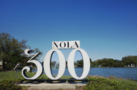NEW ORLEANS,LA/USA -03-19-2019: A sign in New Orleans City Park celebrating the city's 300th anniversary
