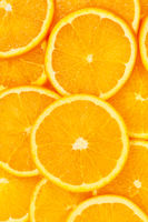 Oranges citrus fruits orange slices collection portrait format food background fresh fruit