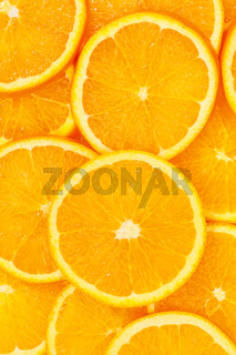 Oranges citrus fruits orange slices collection portrait format food background fresh fruit
