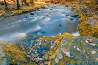 wild river Doubrava, autumn landscape