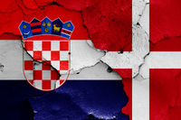 flags of Croatia and Denmark
