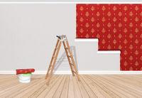 Wand tapezieren