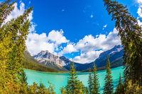 Lake in Yoho Park, Rocky Mountains
