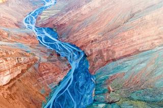 stunning view of xinjiang canyon