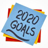 2020 goals reminder note