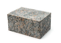 Block of natural unpolished granite