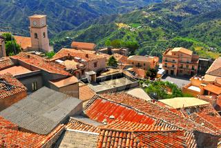 The village of Bova in the Province of Reggio Calabria