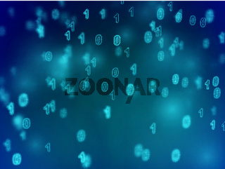 Information technology abstract background. Secure digital information transfer.