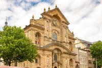 Facade of St. Martin church in Bamberg