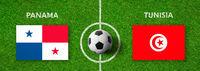 Football match Panama vs. Tunisia
