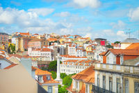 Lisbon rooftops and traditional architecture