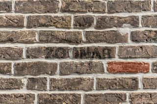Details einer Ziegelmauer | Details of brick wall