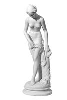 Classic white marble statue woman of a white background