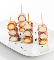 Gourmet Meat And Salami Rolls With Cheese