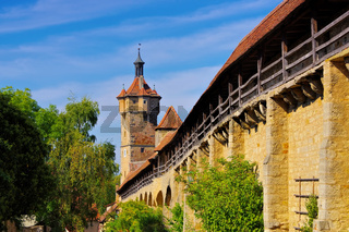 Rothenburg Stadtmauer - Rothenburg in Germany, the city wall