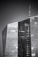 Spitze des EZB Gebäudes