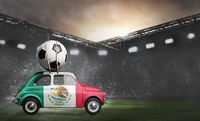 Mexico car on football stadium