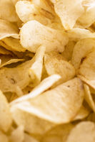 Crispy chips golden pattern