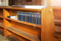 some song books in a church in Nuremberg Bavaria Germany