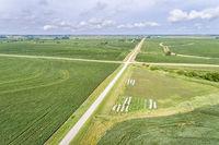 aerial view of rural Nebraska landscape