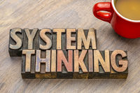 system thinking word abstract
