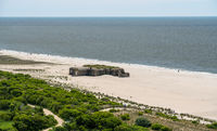 Second world war bunker on beach at Cape May Point in New Jersey